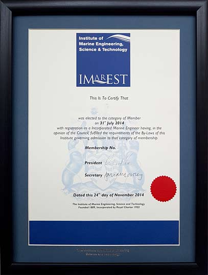 The Professional Framing Company - Frames for the Institute of ...