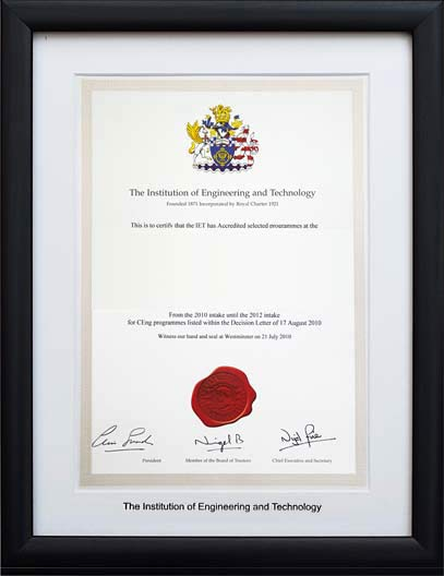 The Professional Framing Company - Frames for the The Institution of ...