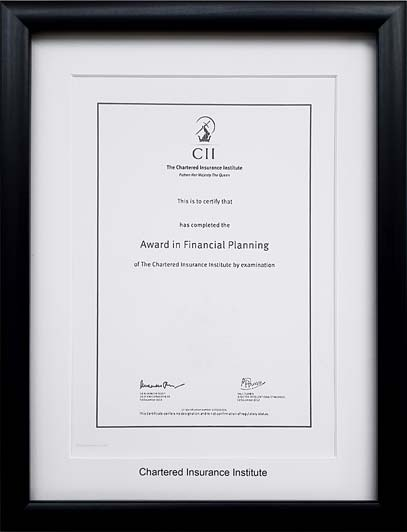 The Professional Framing Company frames - Frames for The Chartered ...